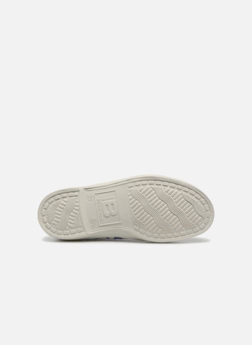 Trainers Bensimon Tennis Lacets Colorspots E Blue view from above