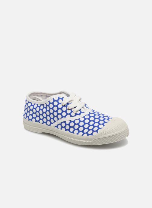 Baskets Bensimon Tennis Lacets Colorspots E Bleu vue détail/paire