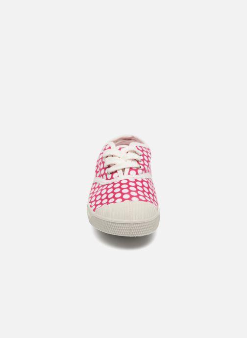 Trainers Bensimon Tennis Lacets Colorspots E Pink model view