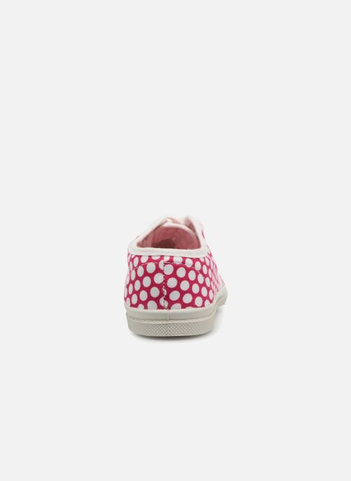 Trainers Bensimon Tennis Lacets Colorspots E Pink view from the right