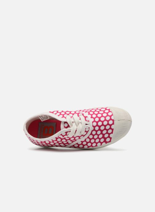 Trainers Bensimon Tennis Lacets Colorspots E Pink view from the left