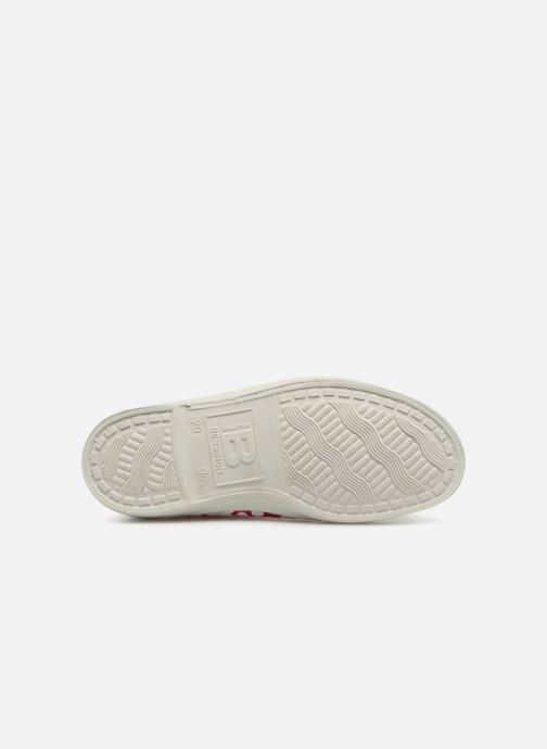 Trainers Bensimon Tennis Lacets Colorspots E Pink view from above