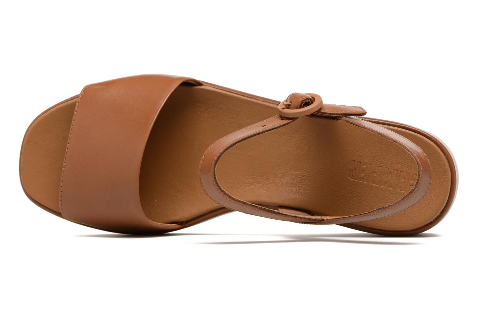 Sandals Camper Misia 4 Brown view from the left