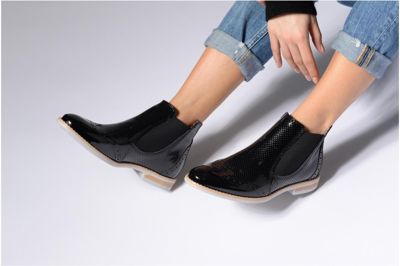 Bottines et boots Georgia Rose Noots Noir vue bas / vue portée sac
