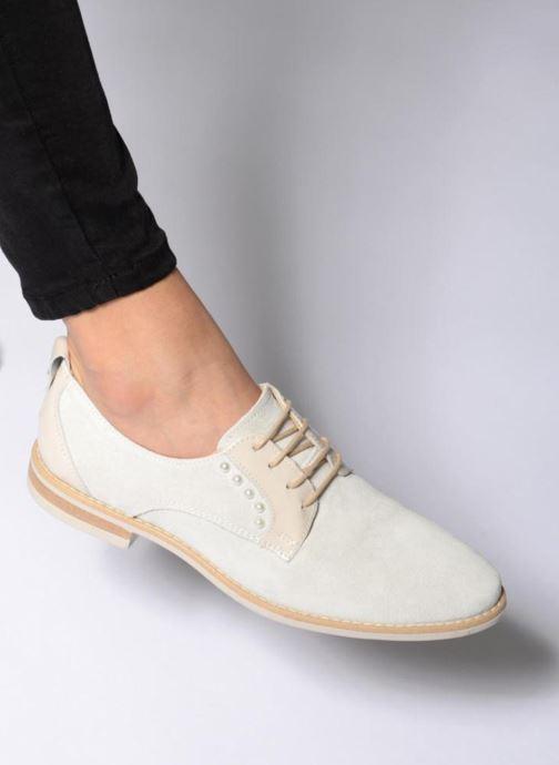 Chaussures à lacets Georgia Rose Ninou Bleu vue bas / vue portée sac