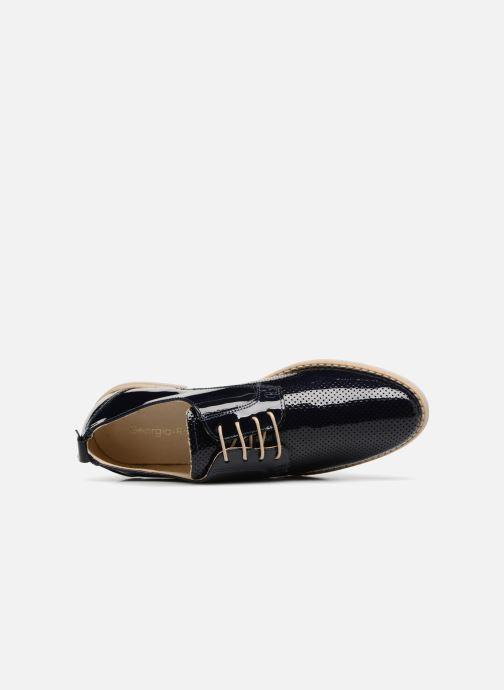 Zapatos con cordones Georgia Rose Nouga Azul vista lateral izquierda