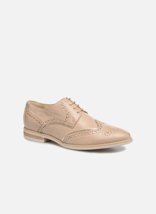 Zapatos con cordones Georgia Rose Nissa Beige vista de detalle / par