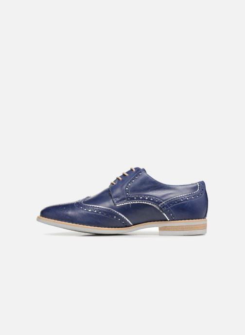 Zapatos con cordones Georgia Rose Nissa Azul vista de frente