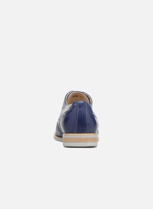 Zapatos con cordones Georgia Rose Nissa Azul vista lateral derecha