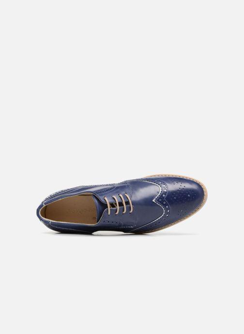 Zapatos con cordones Georgia Rose Nissa Azul vista lateral izquierda