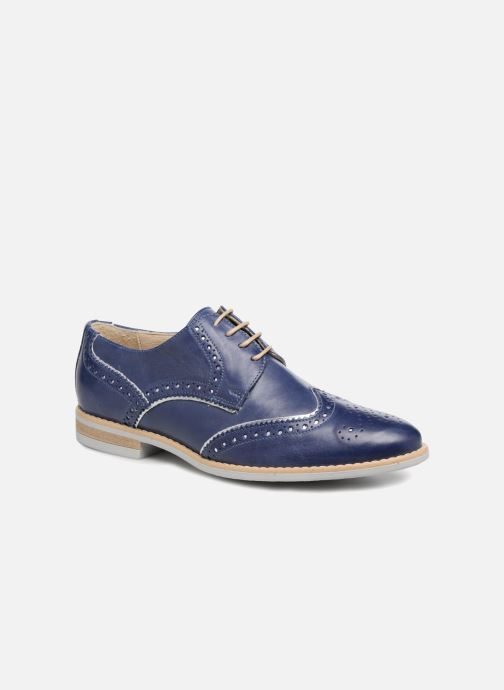 Zapatos con cordones Georgia Rose Nissa Azul vista de detalle / par