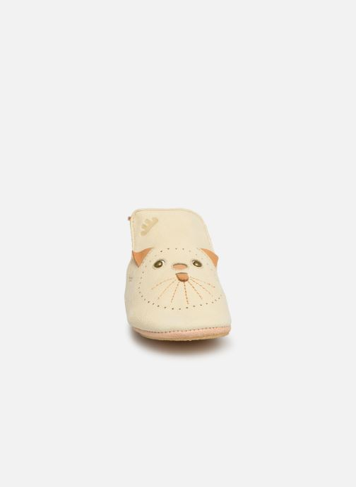 Chaussons Easy Peasy Blublu Miaou Beige vue portées chaussures