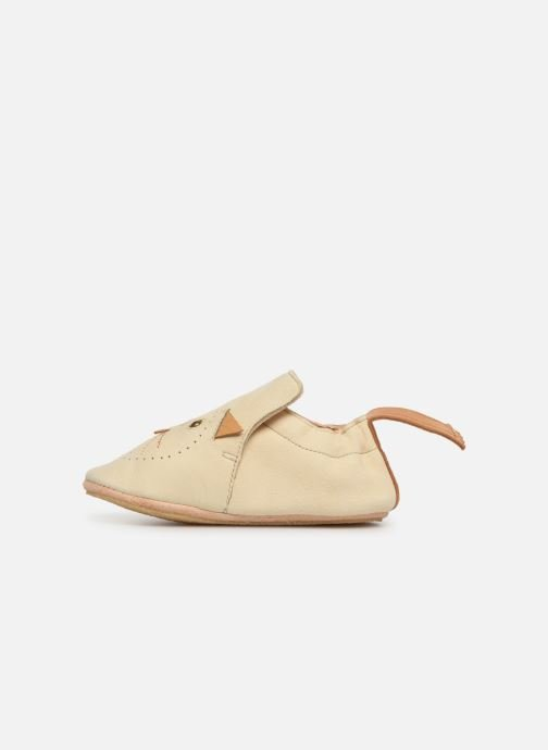 Chaussons Easy Peasy Blublu Miaou Beige vue face