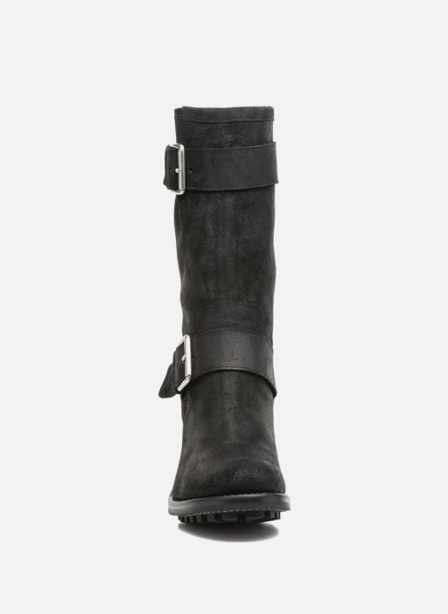 Bottes Free Lance BIKER 7 MID STRAP VELOURS BRONX LIGHT Noir vue portées chaussures