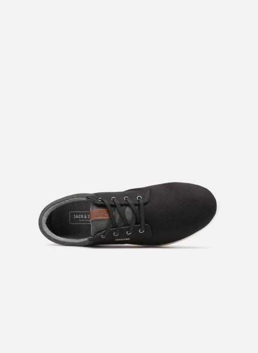 Sneaker Jack & Jones JFW Gaston Canvas Mix schwarz ansicht von links