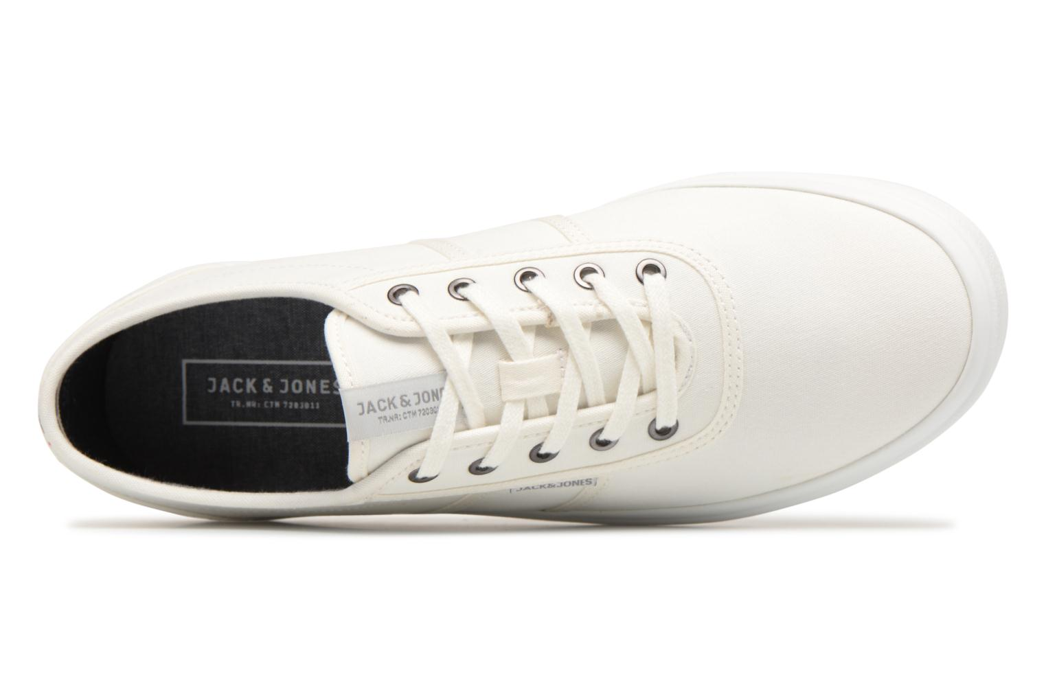 Trainers Jack & Jones JFW Austin Canvas White view from the left