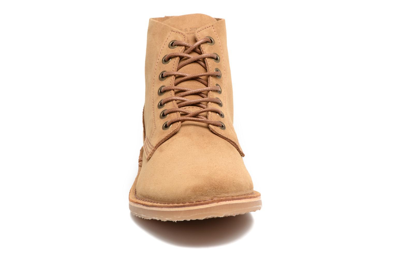 Bottines et boots Jack & Jones JFW Bruce Suede Marron vue portées chaussures