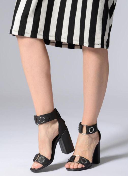 Sandales et nu-pieds SENSO Lala Noir vue bas / vue portée sac