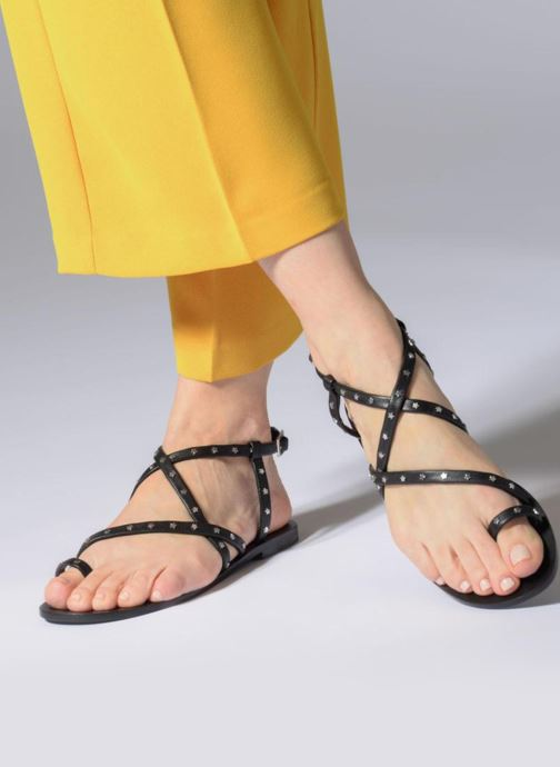 Sandalen SENSO Cassandra schwarz ansicht von unten / tasche getragen