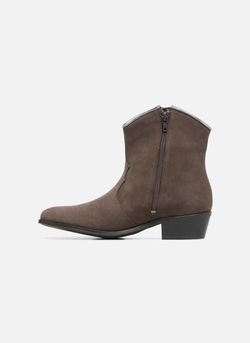 Bottines et boots Les Tropéziennes par M Belarbi Texas Gris vue face