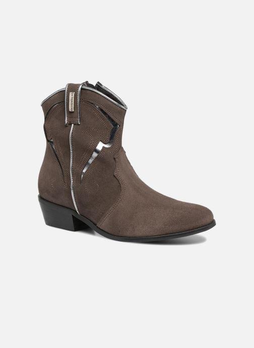 Bottines et boots Les Tropéziennes par M Belarbi Texas Gris vue détail/paire
