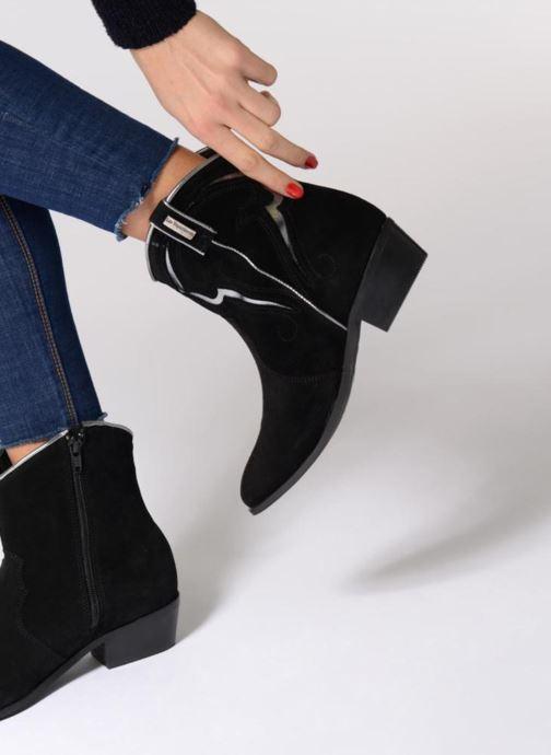 Bottines et boots Les Tropéziennes par M Belarbi Texas Noir vue bas / vue portée sac