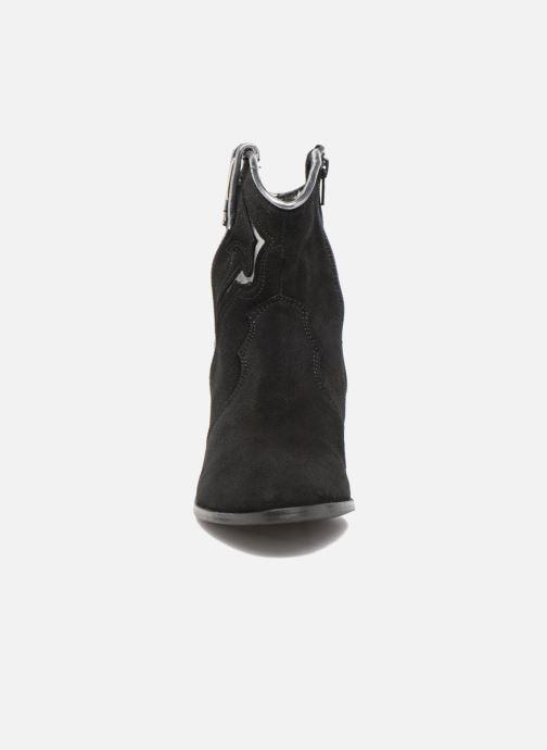Bottines et boots Les Tropéziennes par M Belarbi Texas Noir vue portées chaussures