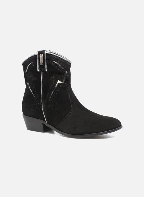 Bottines et boots Les Tropéziennes par M Belarbi Texas Noir vue détail/paire