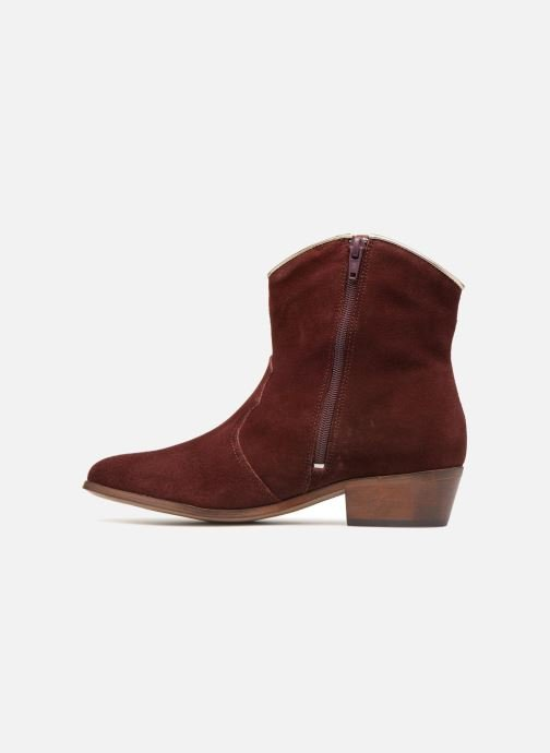 Bottines et boots Les Tropéziennes par M Belarbi Texas Bordeaux vue face
