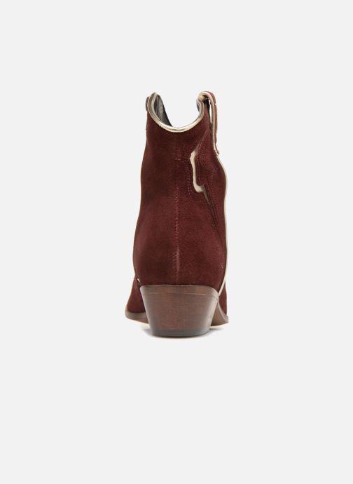 Bottines et boots Les Tropéziennes par M Belarbi Texas Bordeaux vue droite