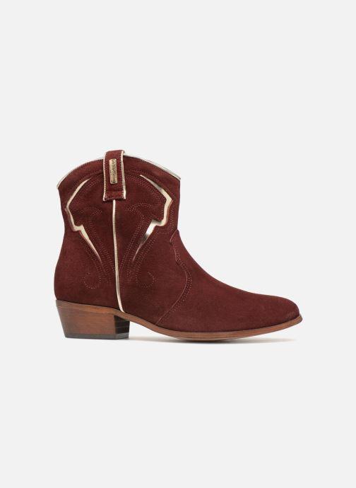Bottines et boots Les Tropéziennes par M Belarbi Texas Bordeaux vue derrière