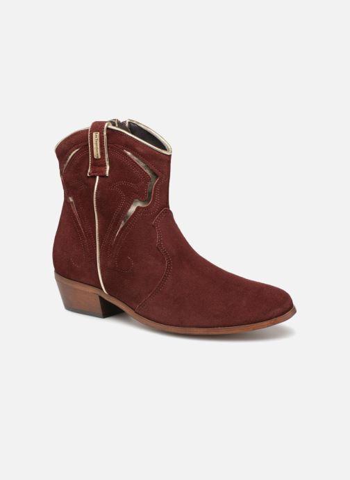 Bottines et boots Les Tropéziennes par M Belarbi Texas Bordeaux vue détail/paire