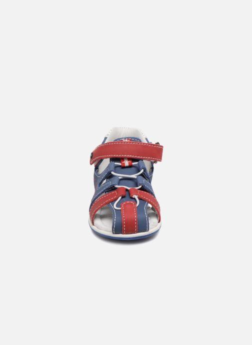 Sandales et nu-pieds Melania Dino Bleu vue portées chaussures