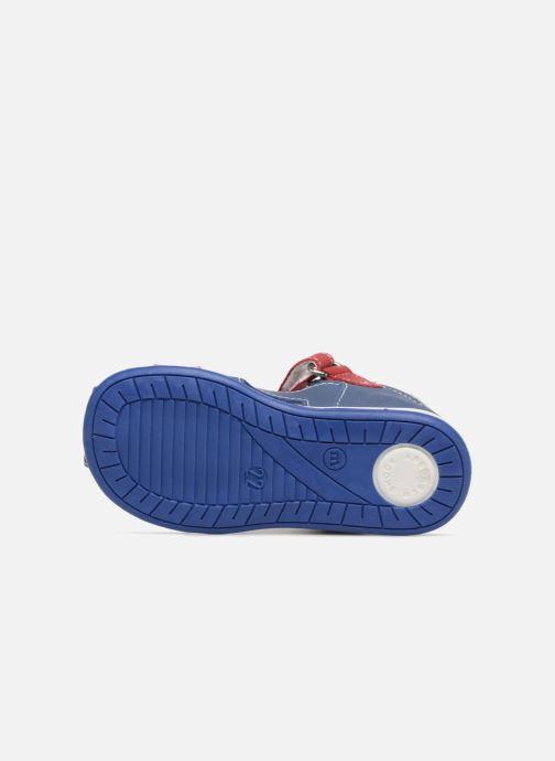 Sandales et nu-pieds Melania Dino Bleu vue haut