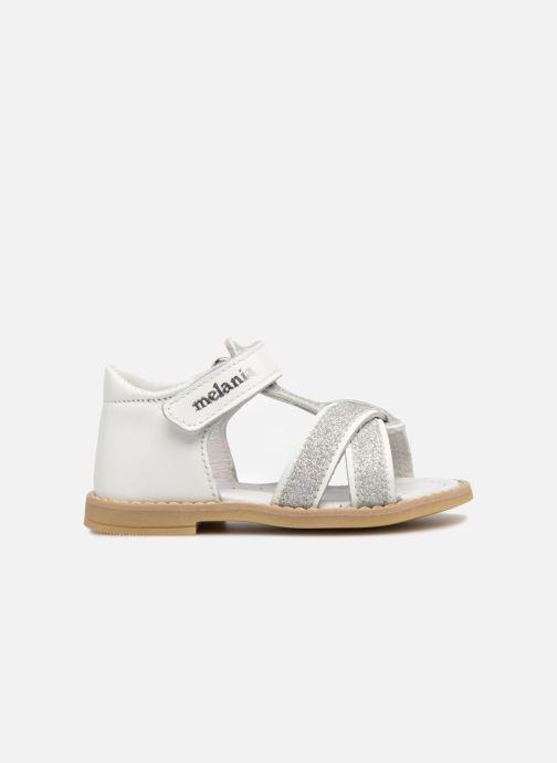 Sandales et nu-pieds Melania Beata Blanc vue derrière