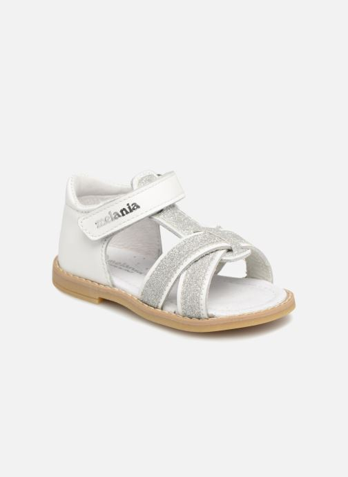 Sandals Melania Beata White detailed view/ Pair view