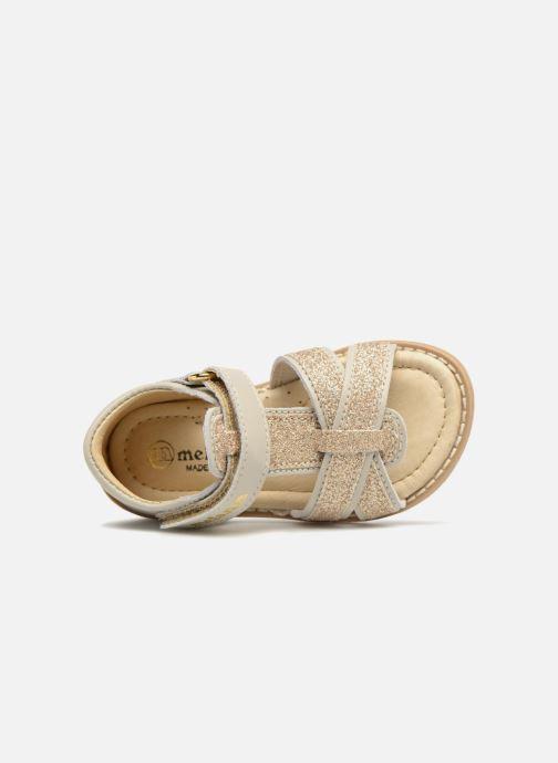 Sandales et nu-pieds Melania Beata Beige vue gauche
