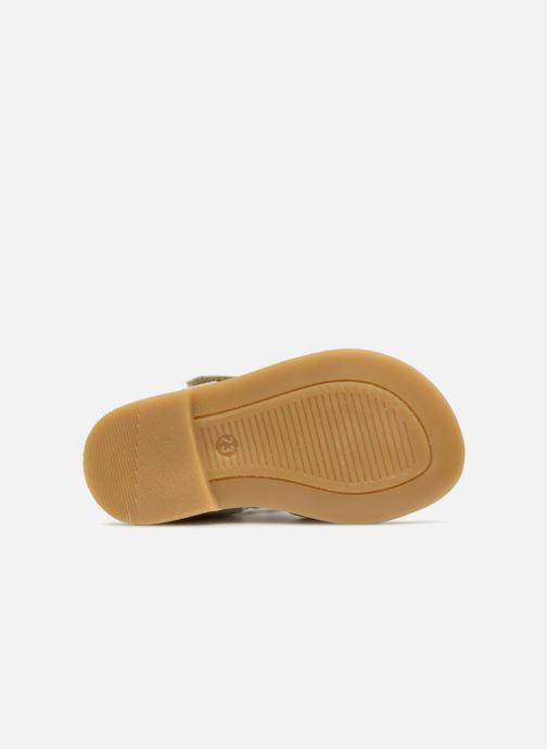 Sandales et nu-pieds Melania Beata Beige vue haut