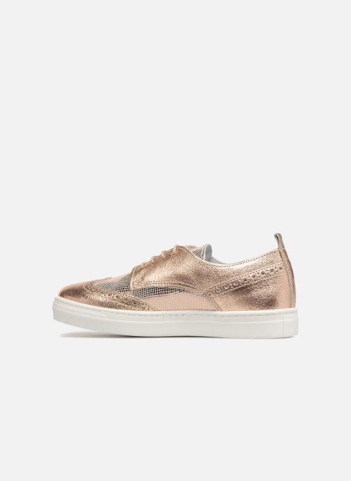 Chaussures à lacets Melania Bianca Or et bronze vue face