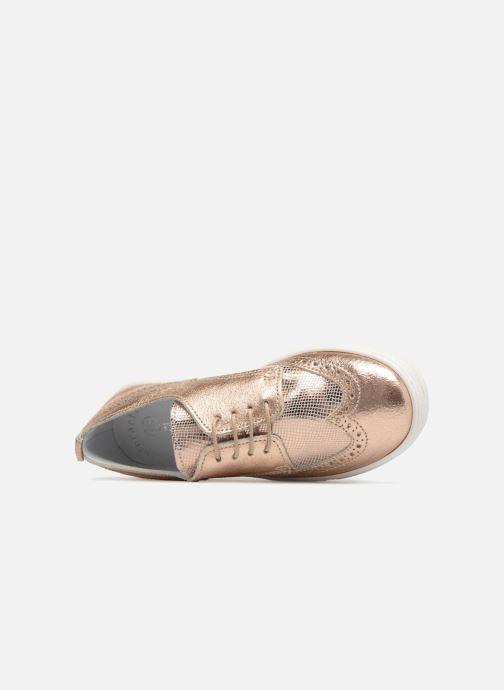 Chaussures à lacets Melania Bianca Or et bronze vue gauche