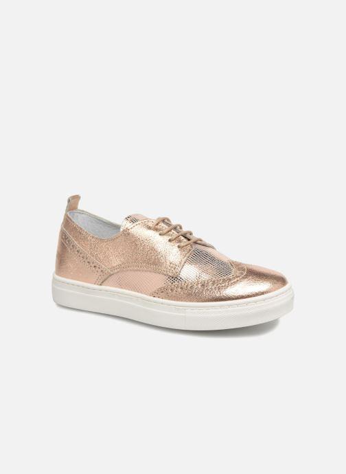 Snøresko Melania Bianca Guld og bronze detaljeret billede af skoene