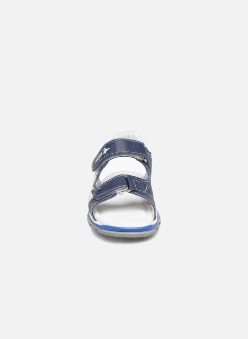 Sandalen Melania Nicola blau schuhe getragen
