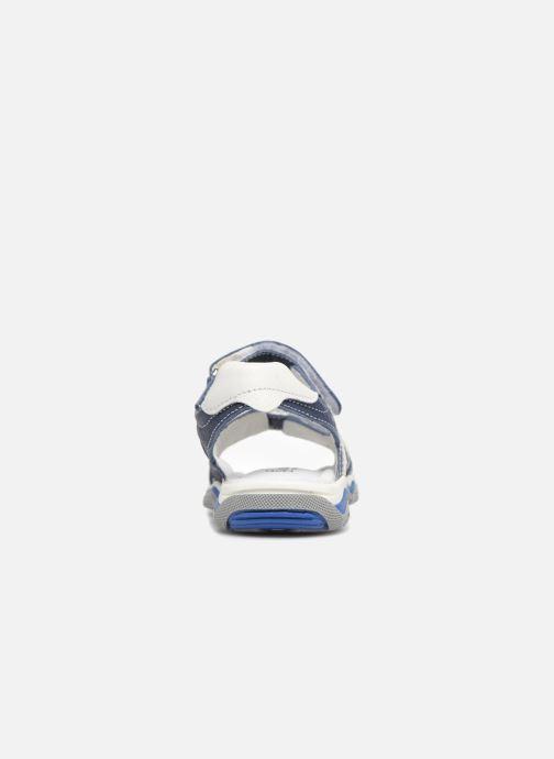 Sandales et nu-pieds Melania Nicola Bleu vue droite