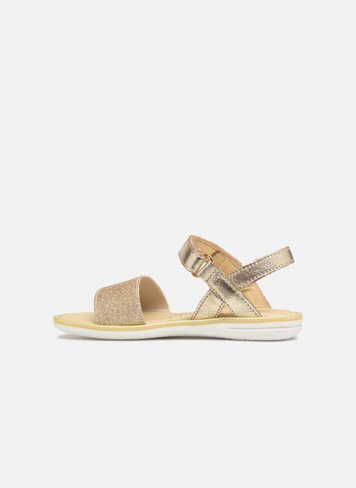 Sandales et nu-pieds Melania Ombeline Or et bronze vue face
