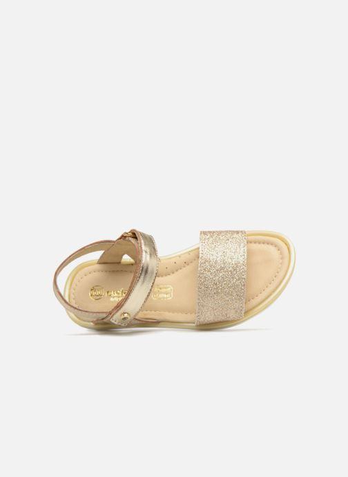 Sandales et nu-pieds Melania Ombeline Or et bronze vue gauche
