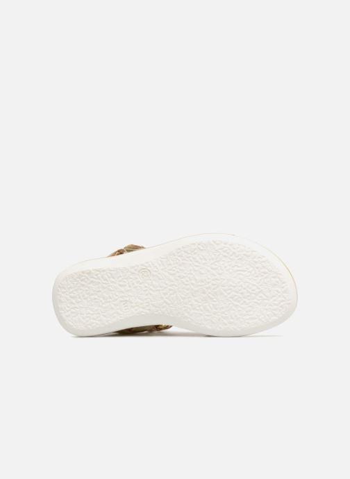 Sandales et nu-pieds Melania Ombeline Or et bronze vue haut