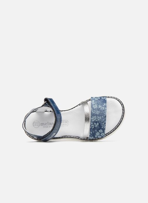 Sandals Melania Ornella Blue view from the left