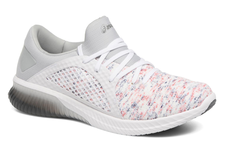 Chaussures de sport Asics Gel-Kenun Knit Blanc vue détail/paire