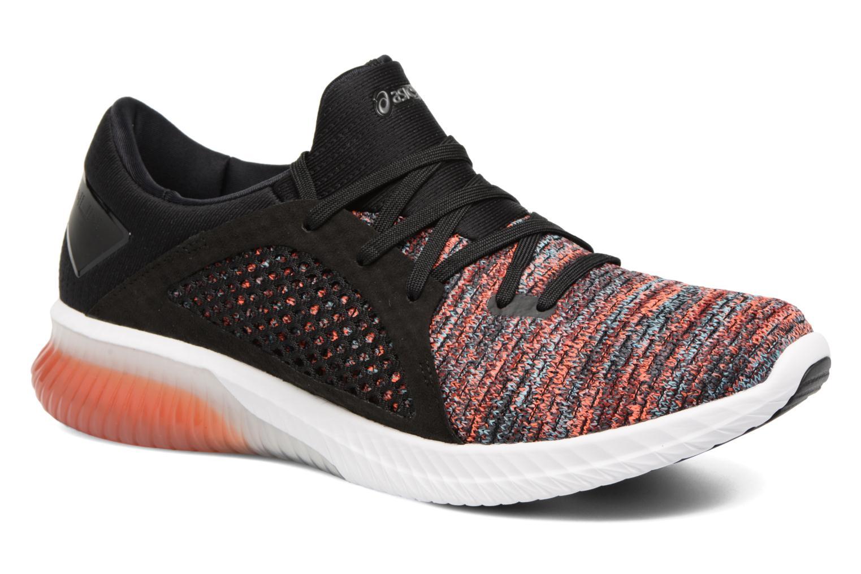 Chaussures de sport Asics Gel-Kenun Knit Orange vue détail/paire