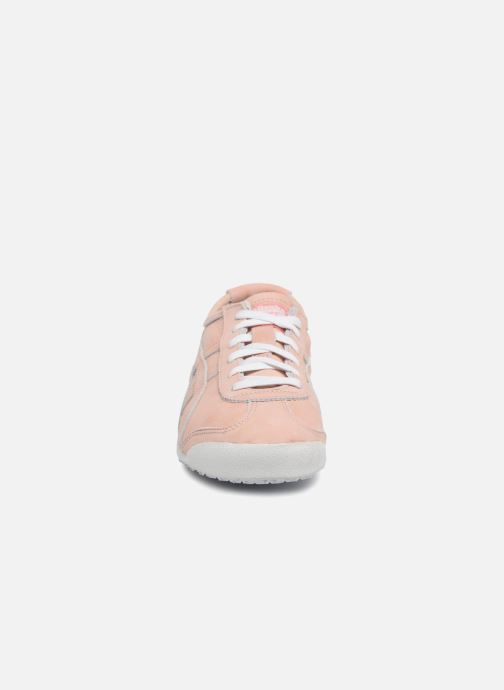 Baskets Onitsuka Tiger Mexico 66 Rose vue portées chaussures